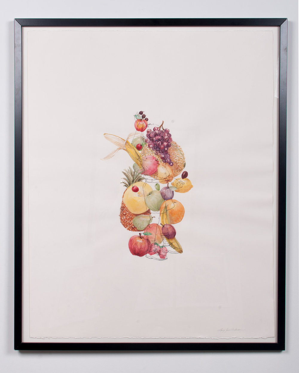 Fruit watercolor and colored pencil 45.75 x 37.5 LJA 160G