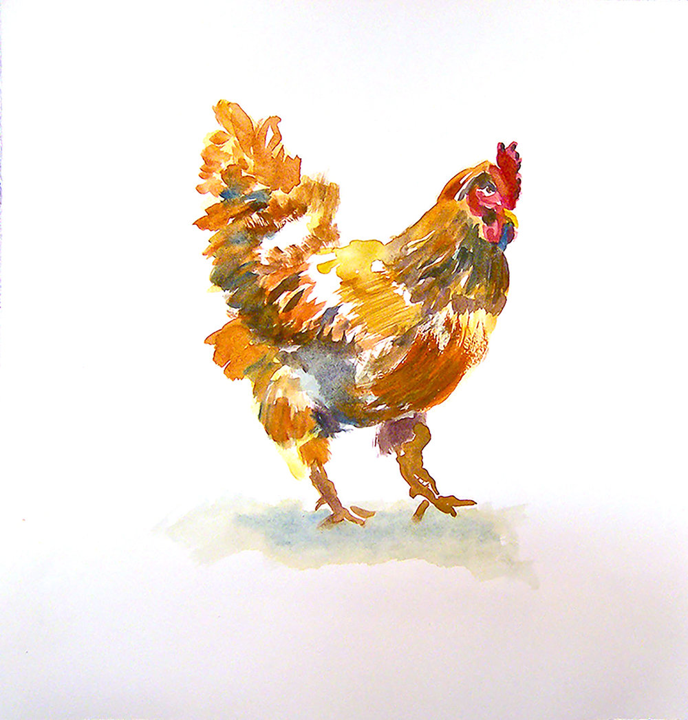 Larry Jens Anderson chicken 20 x 20