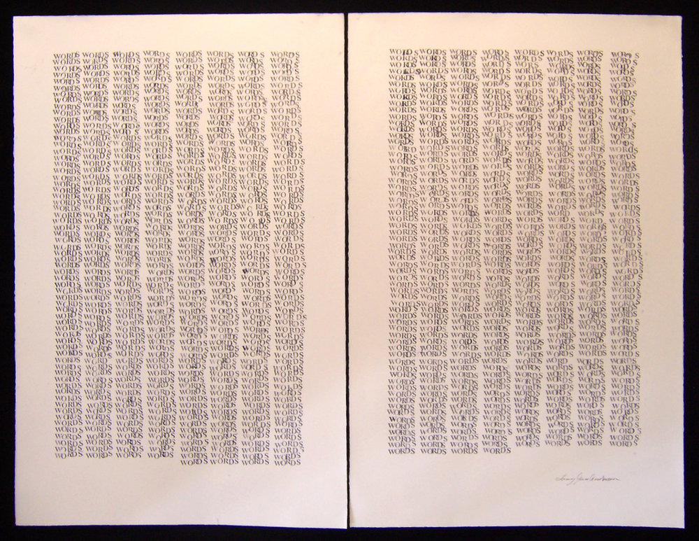 5,000 STAMPS ink on paper 45 x 58 inches LJA 074G