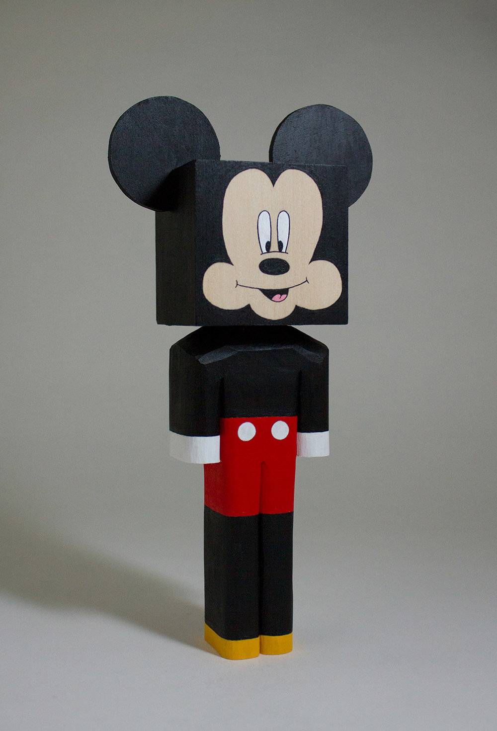 Mickey Mouse acrylic & basswood