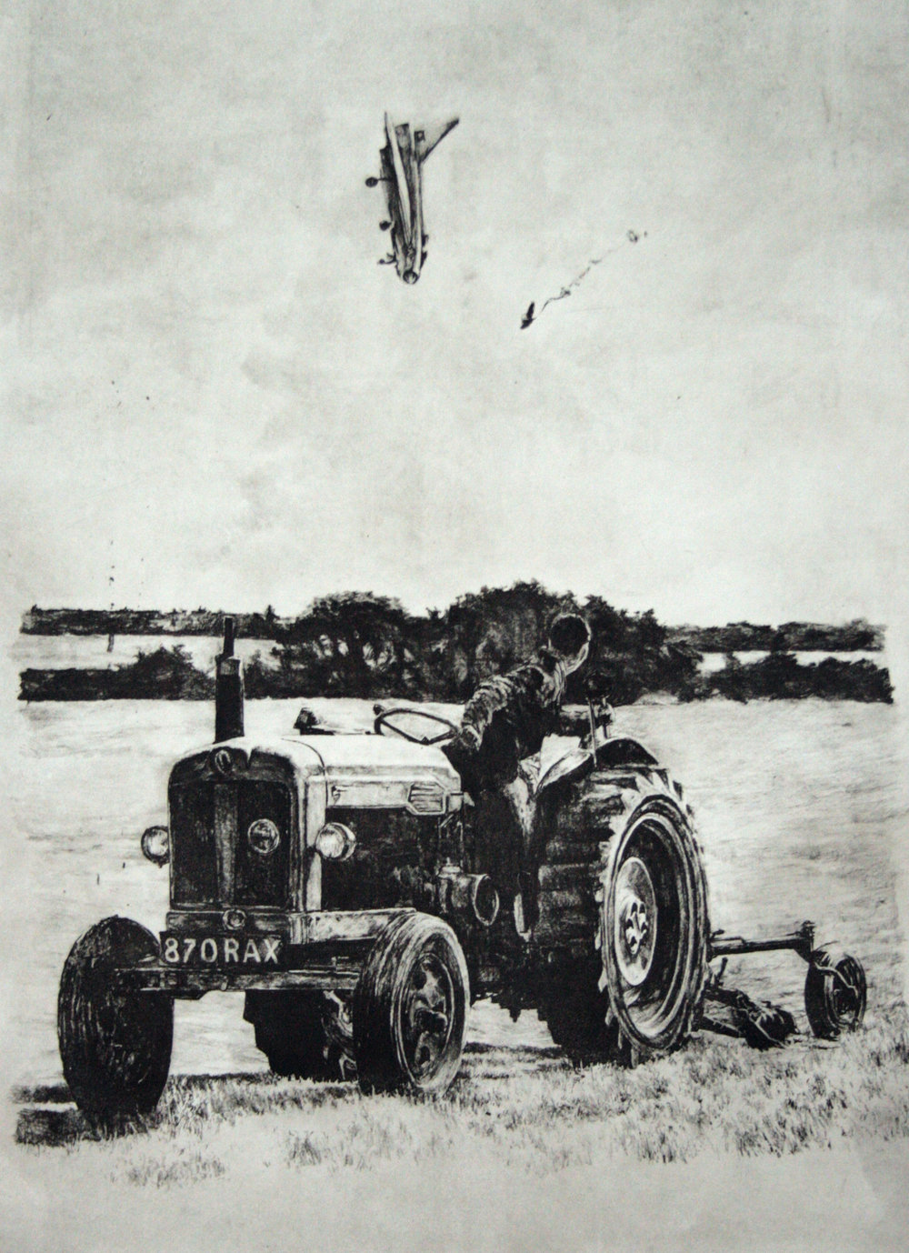 Age Of Mechanized Agriculture Direct gravure (Edition of 30) 28 x 40 inches JKO 016G