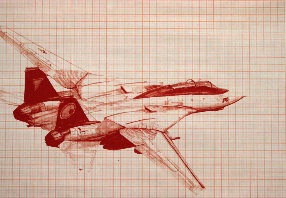 Cognitive Dissonance (R) Xerox print, xylene marker on graph paper 20 x 16 inches JKO 040G