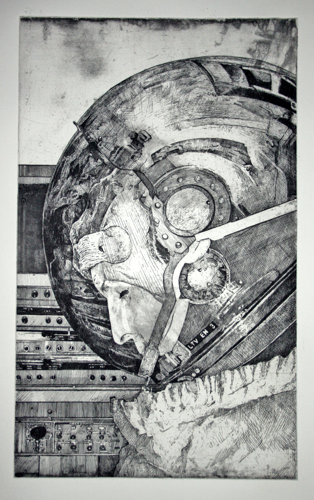 Everything Will Be OK, 2001 etching (Edition of 20) 28 x 20 inches JKO 013G