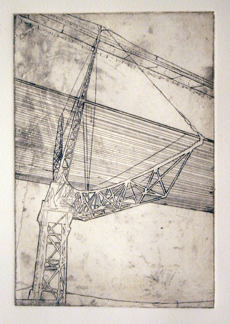 """Everything Will Be OK, 2009"" etching 12 x 16 inches JKO 009G"