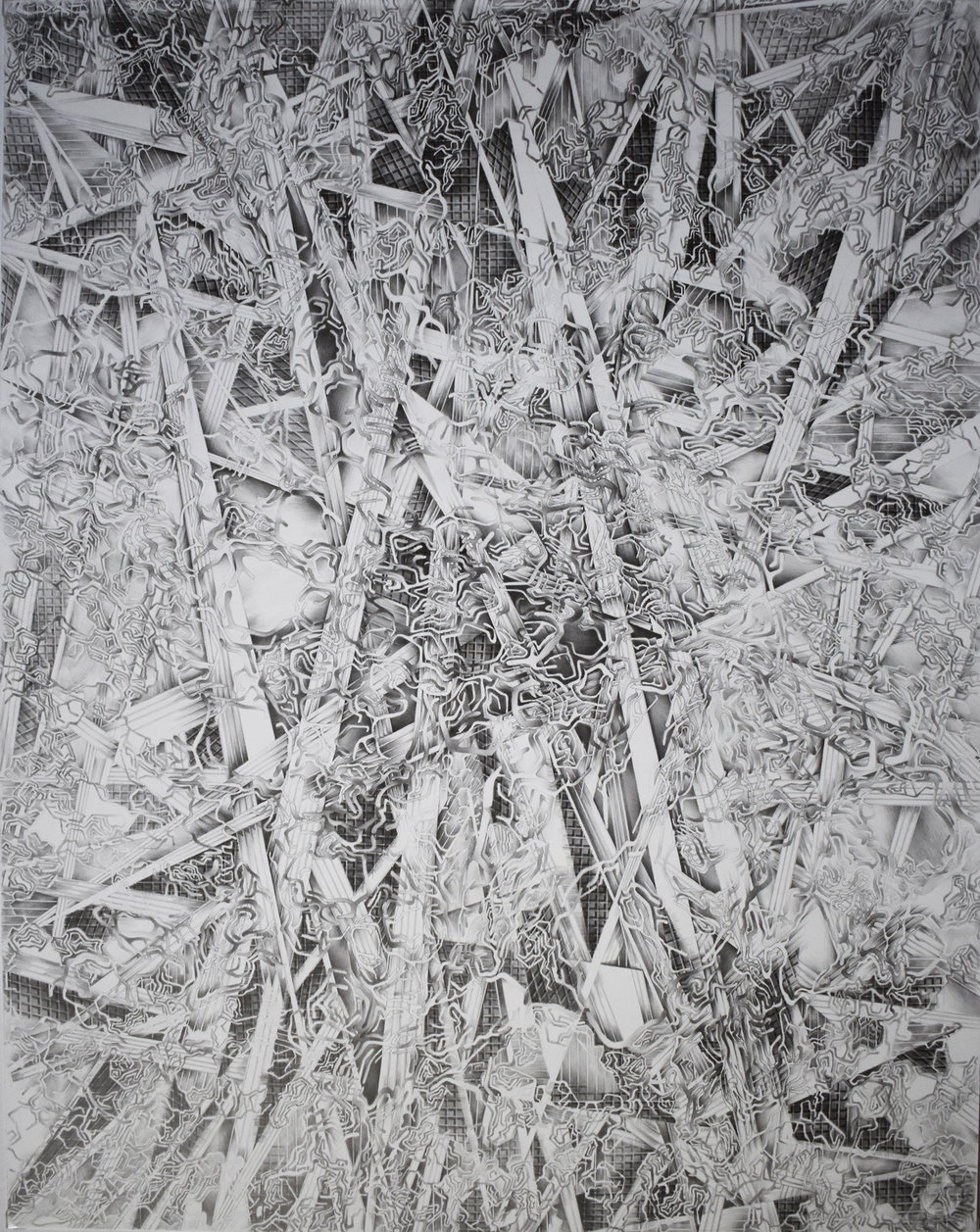 "Valentina Custer O'Roark 3 graphite 29"" X 23"""