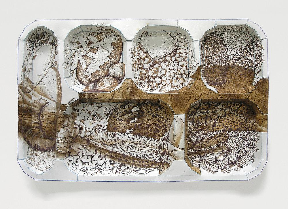 """AndrewDeCaen Starchy Mash Sculptural Print 11"""" x 16"""" x 1"""""""