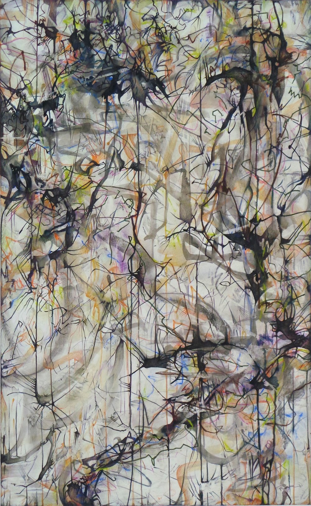 "RoxaneHollosi Sojourn 12 Mixed Drawing 40"" x 26"""