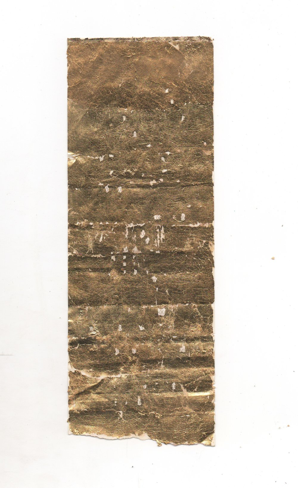 "Raoul Pacheco $33.93 gilded receipt 8.5"" x 3"" unframed"