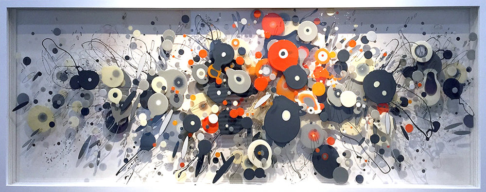 CP 010 enamel on layered plexiglass 28 x 72 x 3.5 inches WGR 050G
