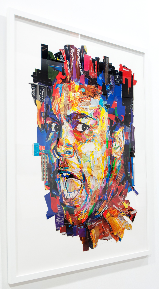Muhammad Ali found paper collage, artist proof 50 x 40 inches JMO 002G