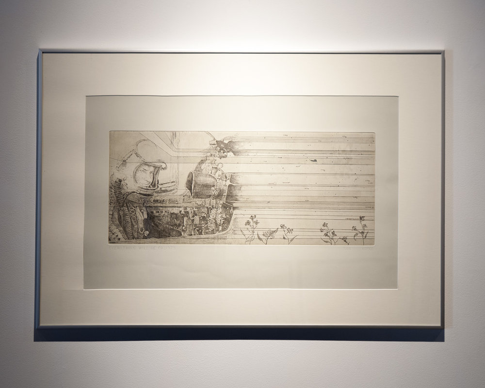 "Kofke Jason Kofke ""1975"" Etching, 22x30inches JKO 087G"