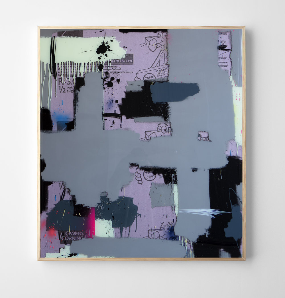 """Internally Flawless"" mixed media with layered epoxy resin. 50 x 57 inches. JBR 133G"