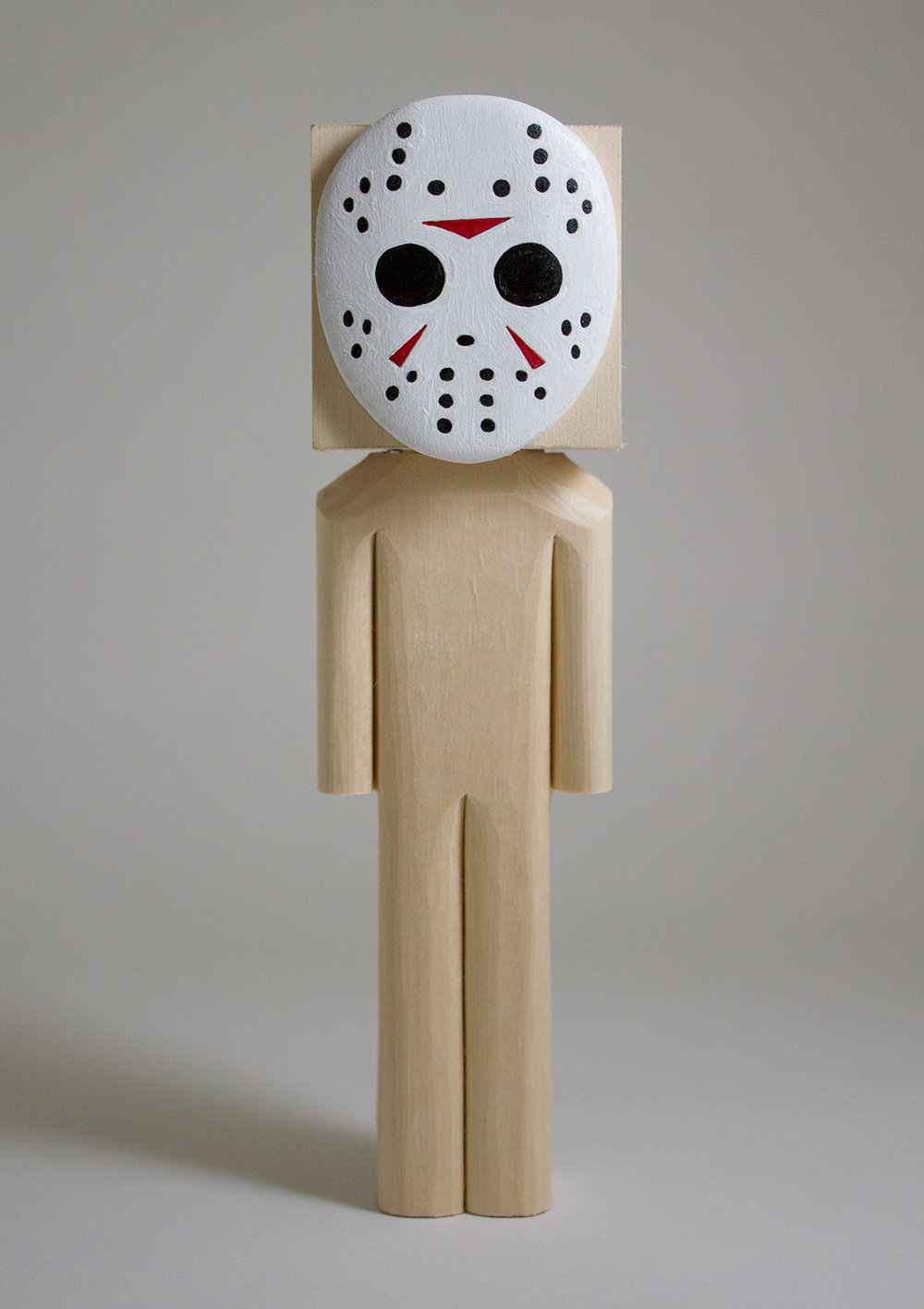 """Jason"" Basswood and Acrylic. 8.25 x 2.25 x 2.5 inches. CSK 010G"