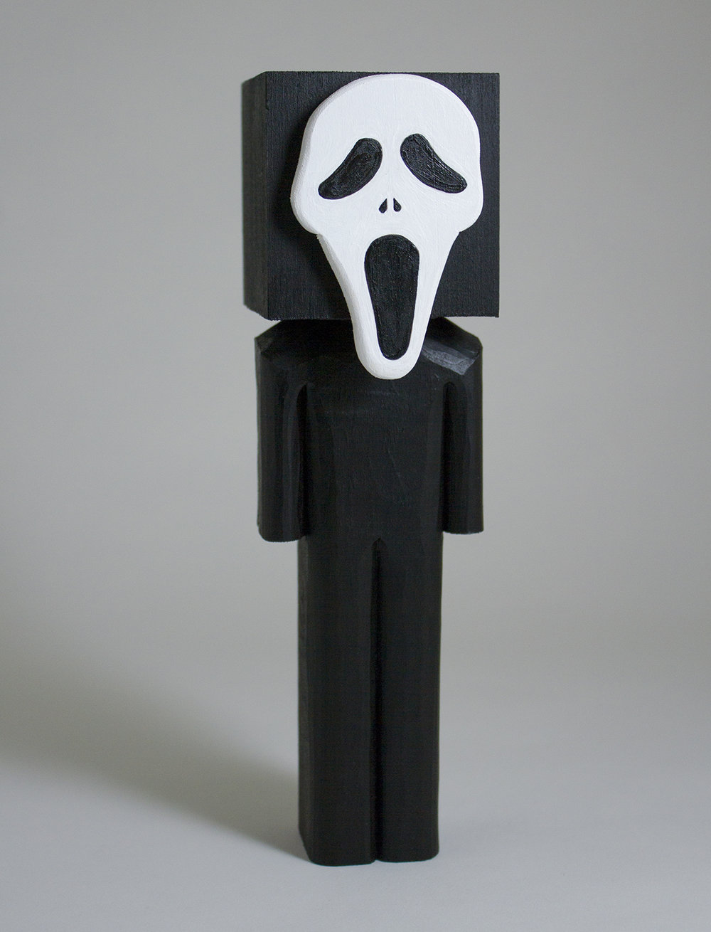 """Scream"" Basswood and acrylic. 7.75 x 2.25 x 2.5 inches. CSK 011G"