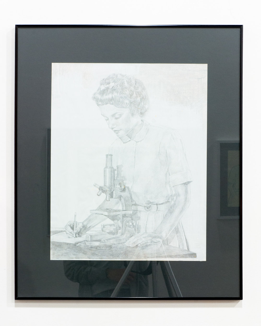 1961(Classroom I) silverpoint, ink on paper 24 x 19 inches JKO 098G