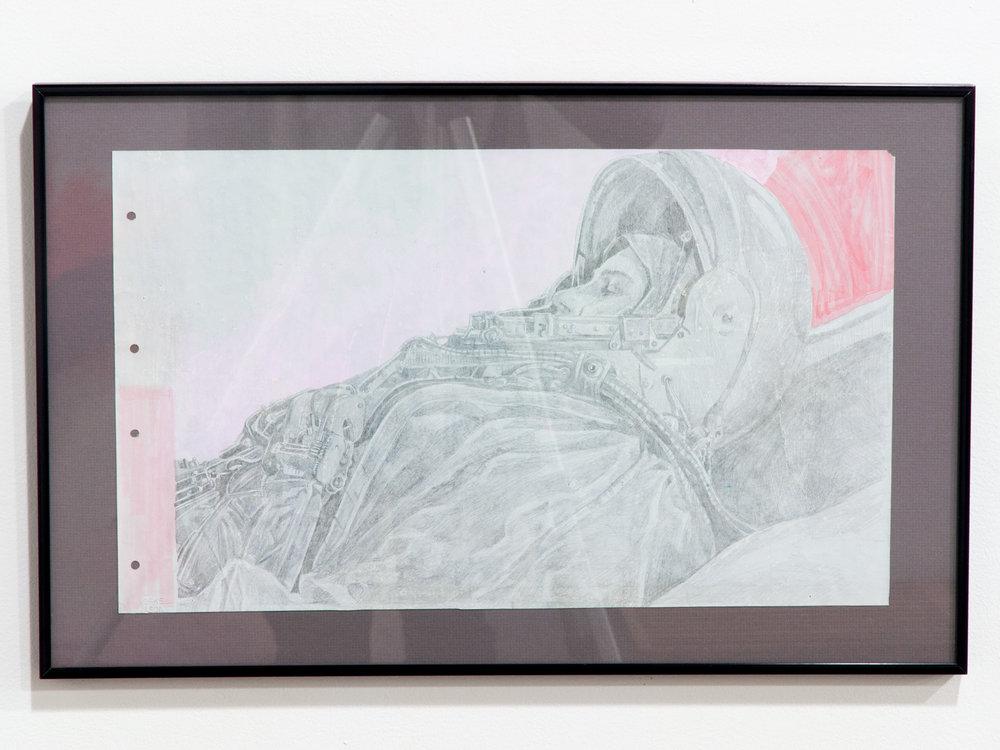 1963 (V. Tereshkova) silverpoint on paper 12 x 19 inches JKO 097G
