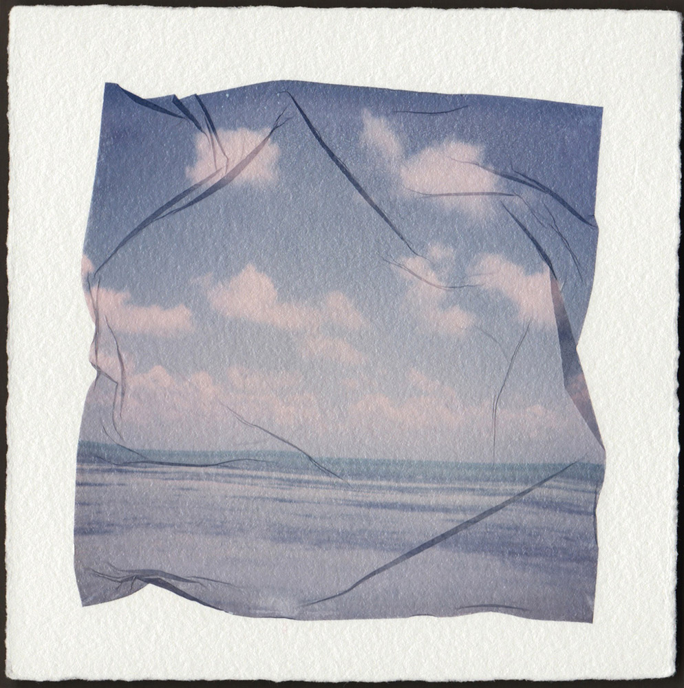 Emma Starr   DRIFT , POLAROID EMULSION LIFT ON ARCHES HUILE, 9 x 9 inches