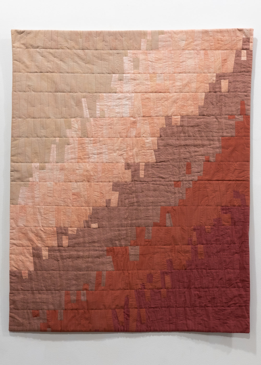 Maggie Dimmick   Mojave  rescued silks, linens, cottons, polyester thread, recycled polyester batting 37.5 x 47 inches MDI 002G
