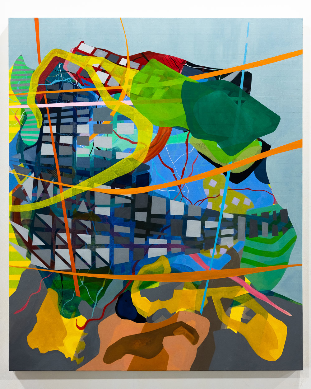 "Joe Camoosa ""Subdivisions"" Oil and acrylic on canvas 50 x 60 inches JCA 054G"