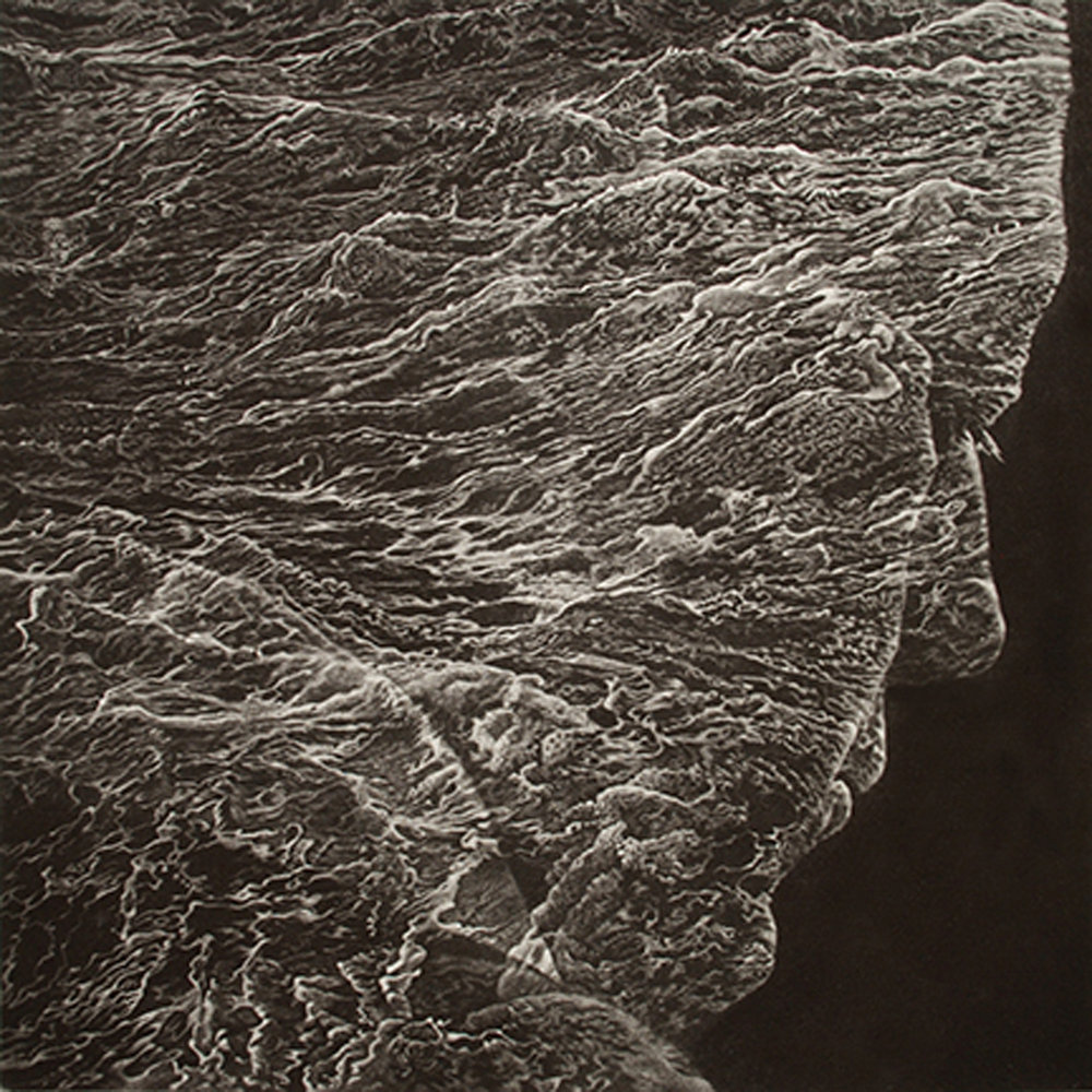 "Art Werger ""The Art of Forgetting"" mezzotint 22 x 22 inches ARW 004G"