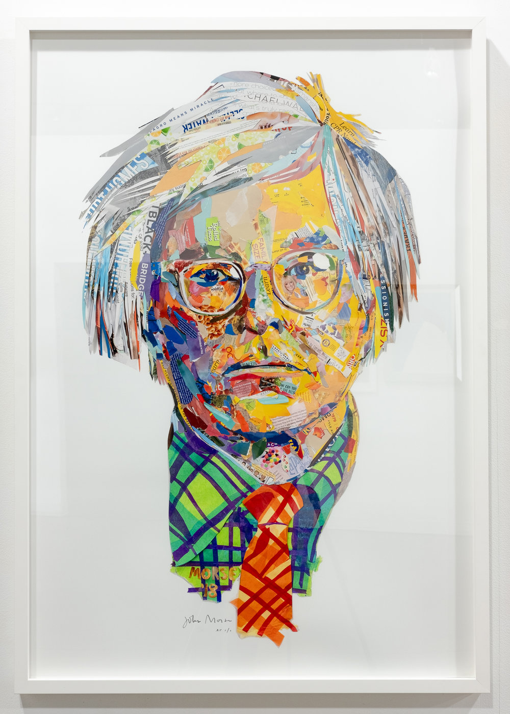 "John Morse ""Warhol"" found paper collage 35 x 50 inches JMO 012G"