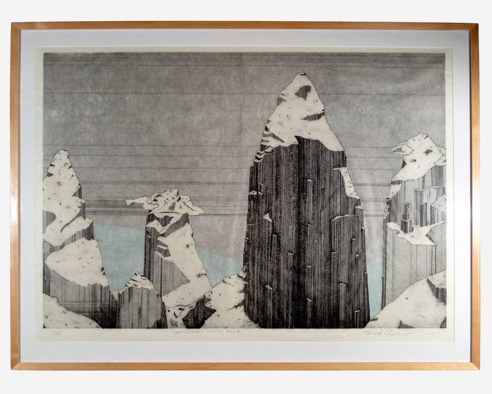 Destroyer - North Face    intaglio print   33 x 45 inches TAN 012G