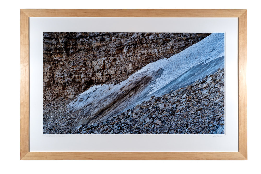 The Last Glacier at Great Basin    archival pigment print   30 x 48 inches TAN 037G