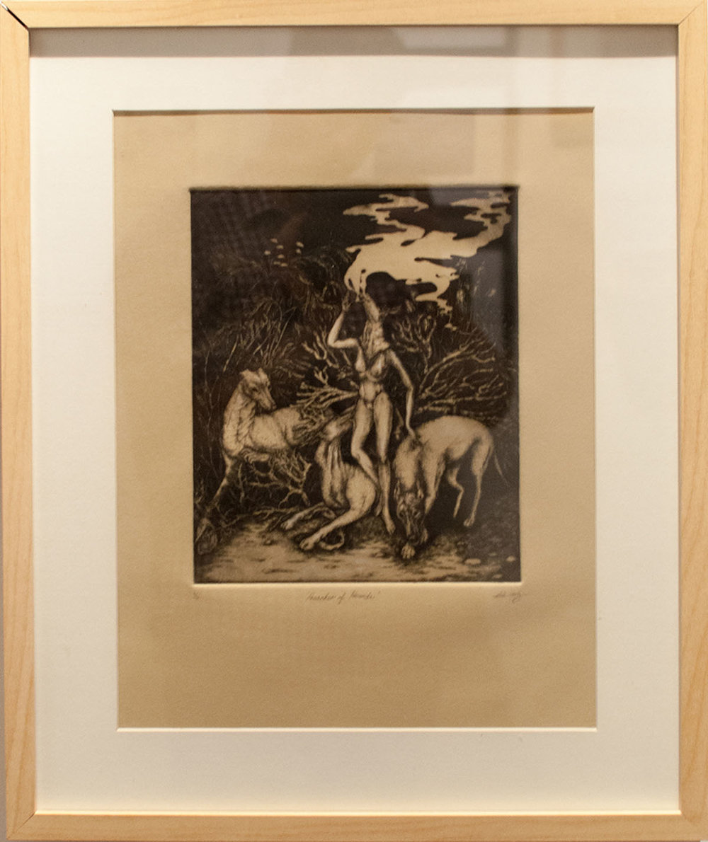 Beatriz Rodriguez Preacher of Hounds drypoint on plexiglass 9.5 x 8 inches BRO 002G.jpg