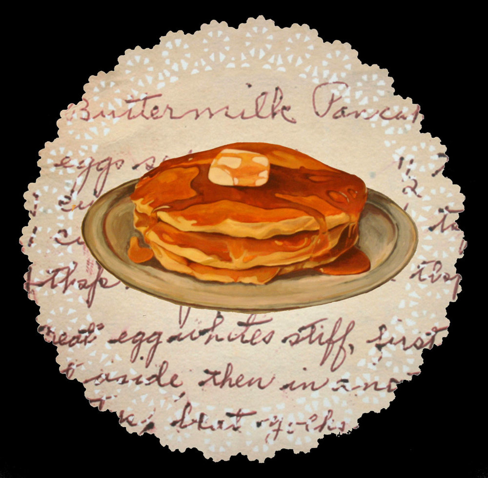 Melissa Harshman Buttermilk Pancakes acrylic on paper, lut jet 19 x 19 inches MHA 005G.jpg