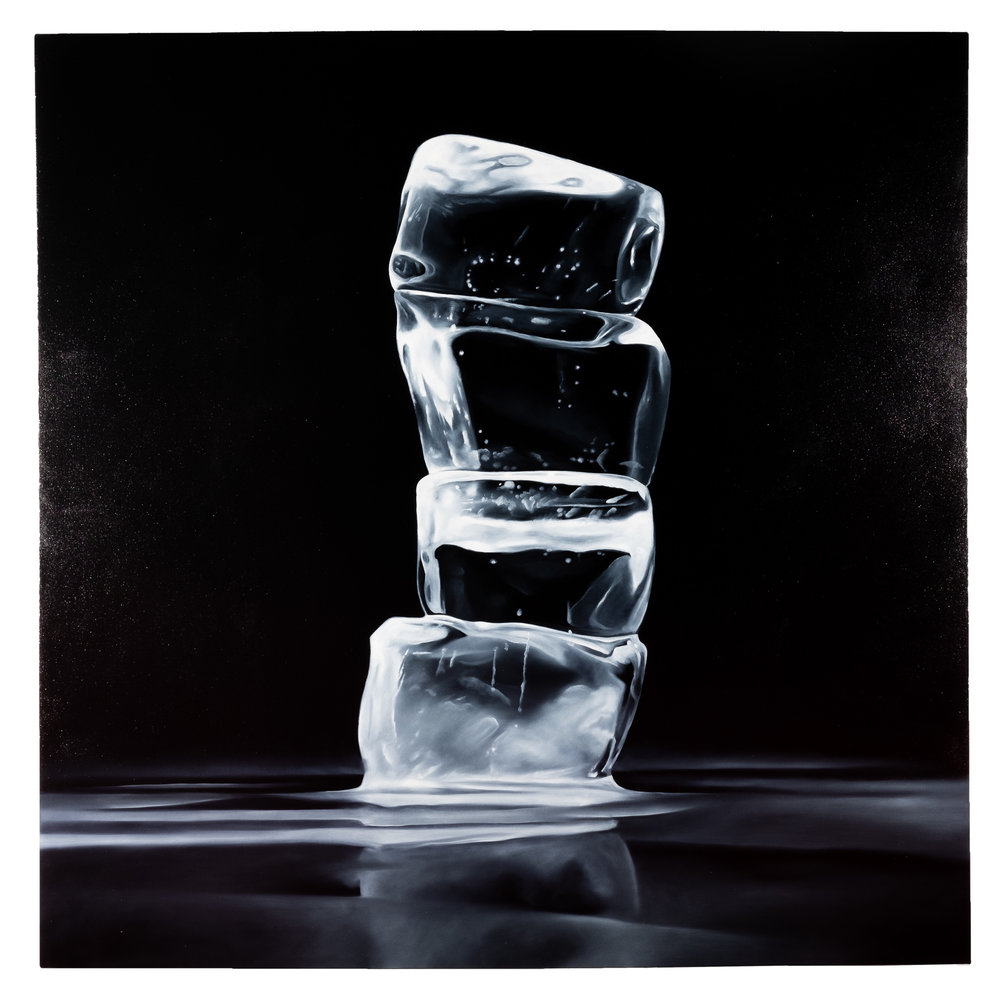 How Fragile We Are: Contradictions 2 oil on canvas 60 x 60 inches KPA 030G