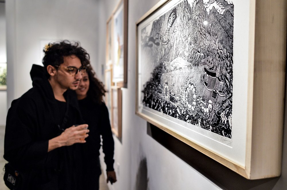 PRINT BIENNIAL OPENING PHOTOS  on exhibit through April 5  see more