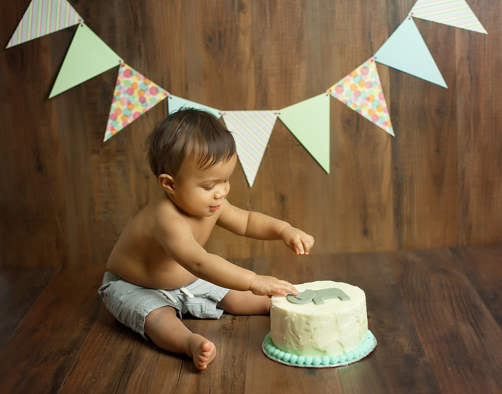 Cake Smash Photographer Chapel Hill North Carolina Burlington