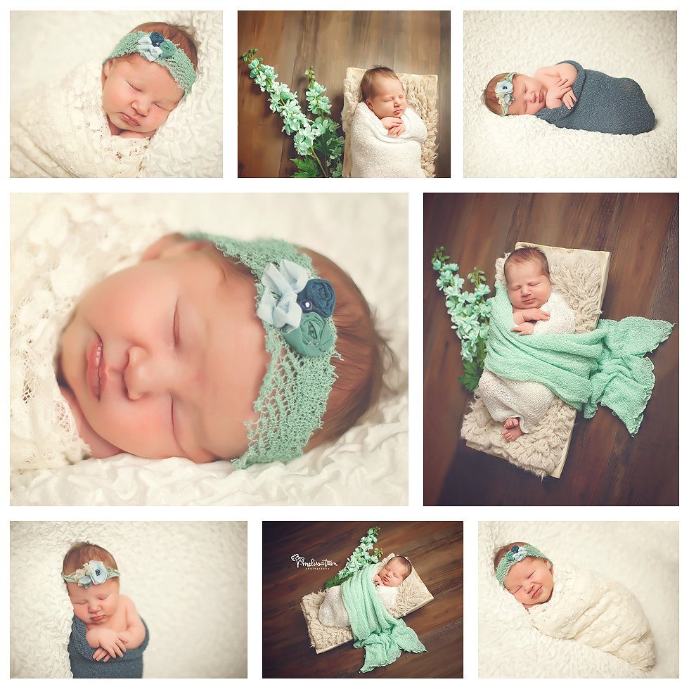 Aqua and navy custom styled newborn baby photo shoot Chapel Hill to Greensboro NC  Melissa Treen Photography