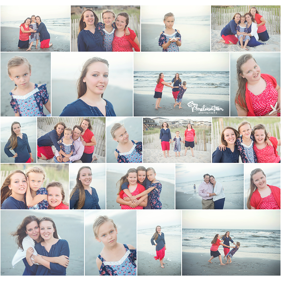 family photos on ocean isle beach north carolina photographer melissa treen
