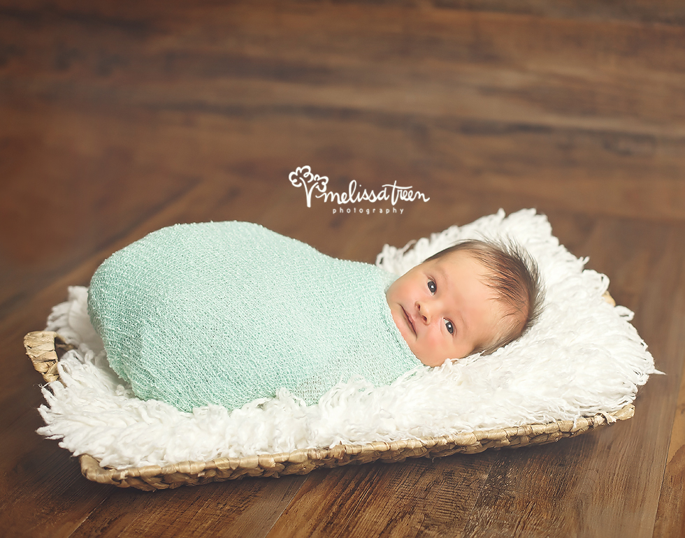 This little love visited from the Winston Salem area for his newborn photo shoot.  We serve a large audience for portraits sessions from Kernersville to Burlington, Greensboro to Mebane, Elon to Chapel Hill, Hillsborough to Winston Salem, Durham to Summerfield, Oak Ridge to Browns Summit, Asheboro to Randleman, Graham to Gibsonville and surrounding areas.  It is such an honor to know clients trust us enough to capture their treasured memories to travel from a radius of two hours away...it leaves us a little speechless to be honest.  Mom loved his open-eyed portraits, but we captured many sleepy moments too.  He had the sweetest little personality, so clam and curious...looking around at his surroundings with delight when he was awake.  He looked gorgeous in this mint color, some of my favorites form his newbron portrait session.  Excited to se him again soon to capture his next milestone as a Baby Portrait Planner.
