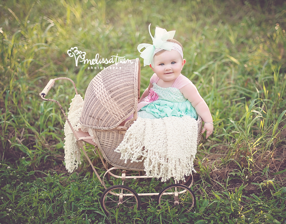 baby girl in pink carriage newborn photographer greensboro chapel hill.jpg