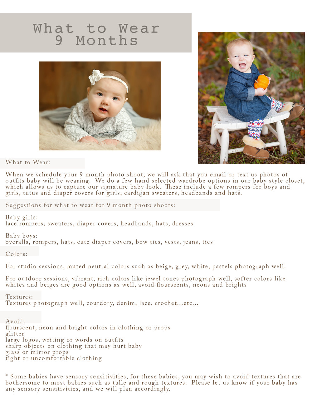what to wear  for your 9 month photo shoot.jpg