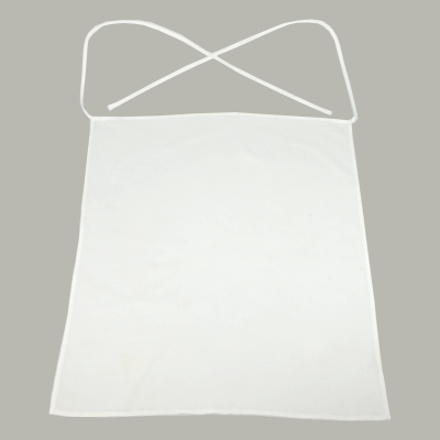 White Bar Apron No pockets