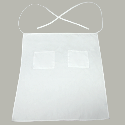 White Bistro Apron 2 Pockets