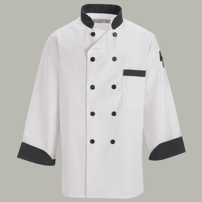 Black Trim Chef Coat