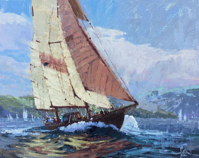 Island Sailors 16x20 © Debra Huse 2016 AIS LORES .jpg