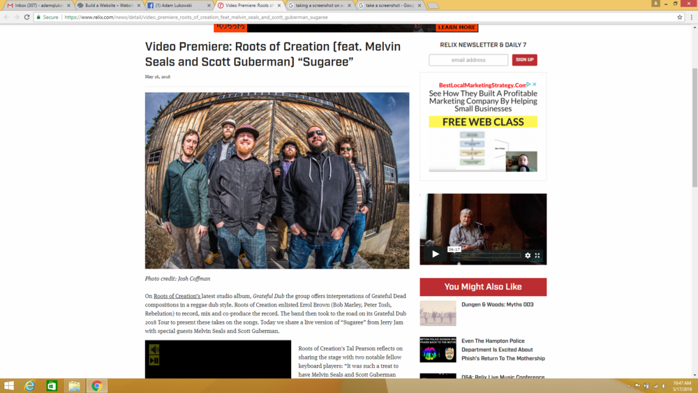 - https://www.relix.com/news/detail/video_premiere_roots_of_creation_feat_melvin_seals_and_scott_guberman_sugaree