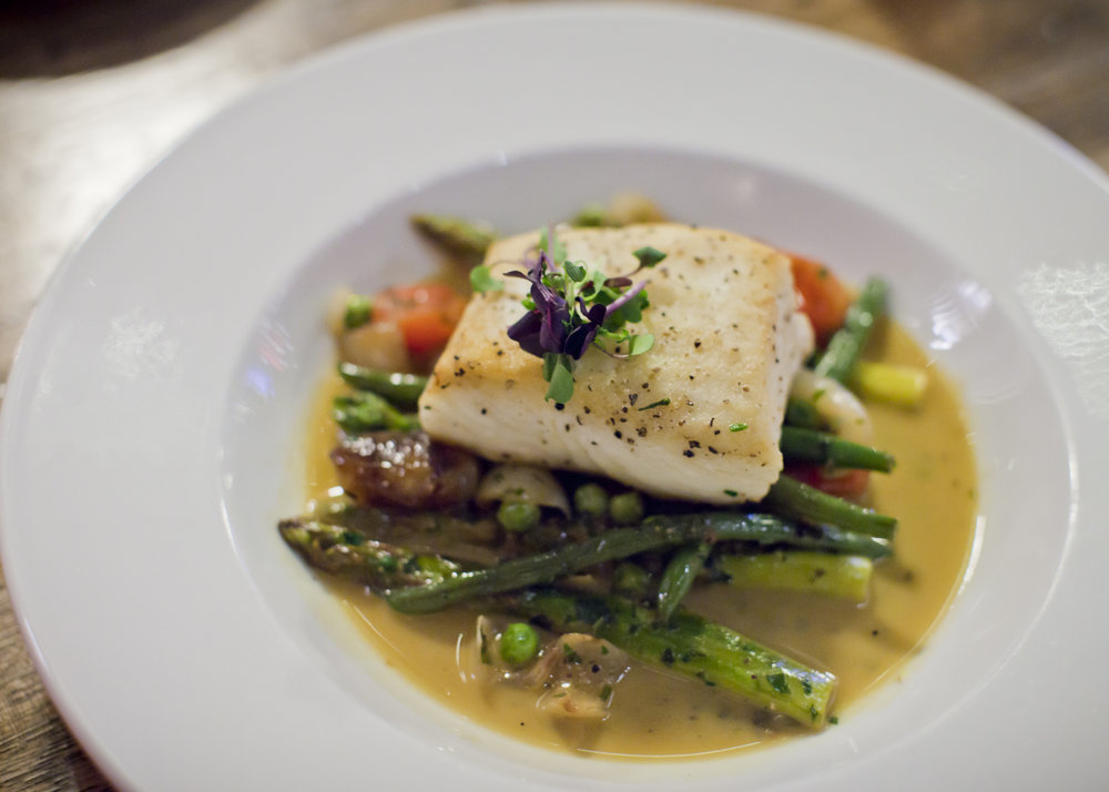 PAN SEARED ALASKAN HALIBUT