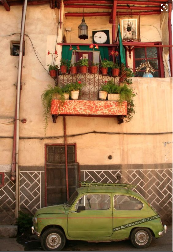 Balcony in Old Town Damascus