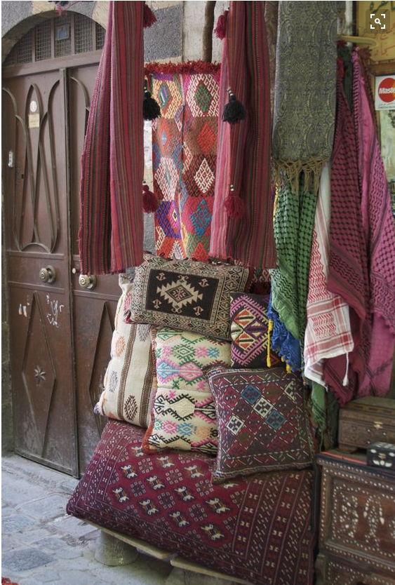 Textiles in Damascus Souk