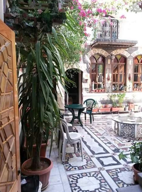 Inside of a traditional Damascus home