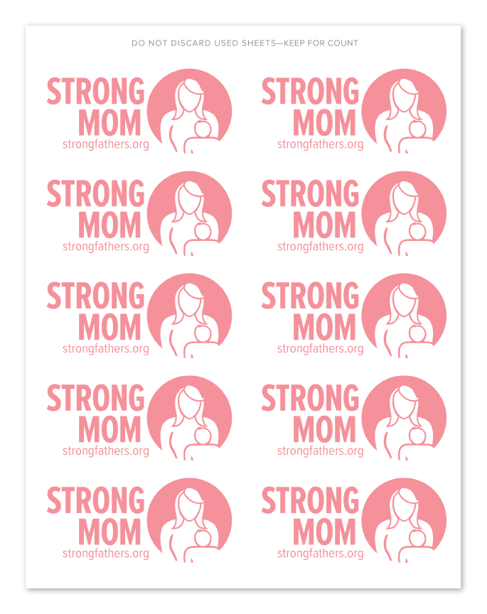 Strong Mom Event Stickers