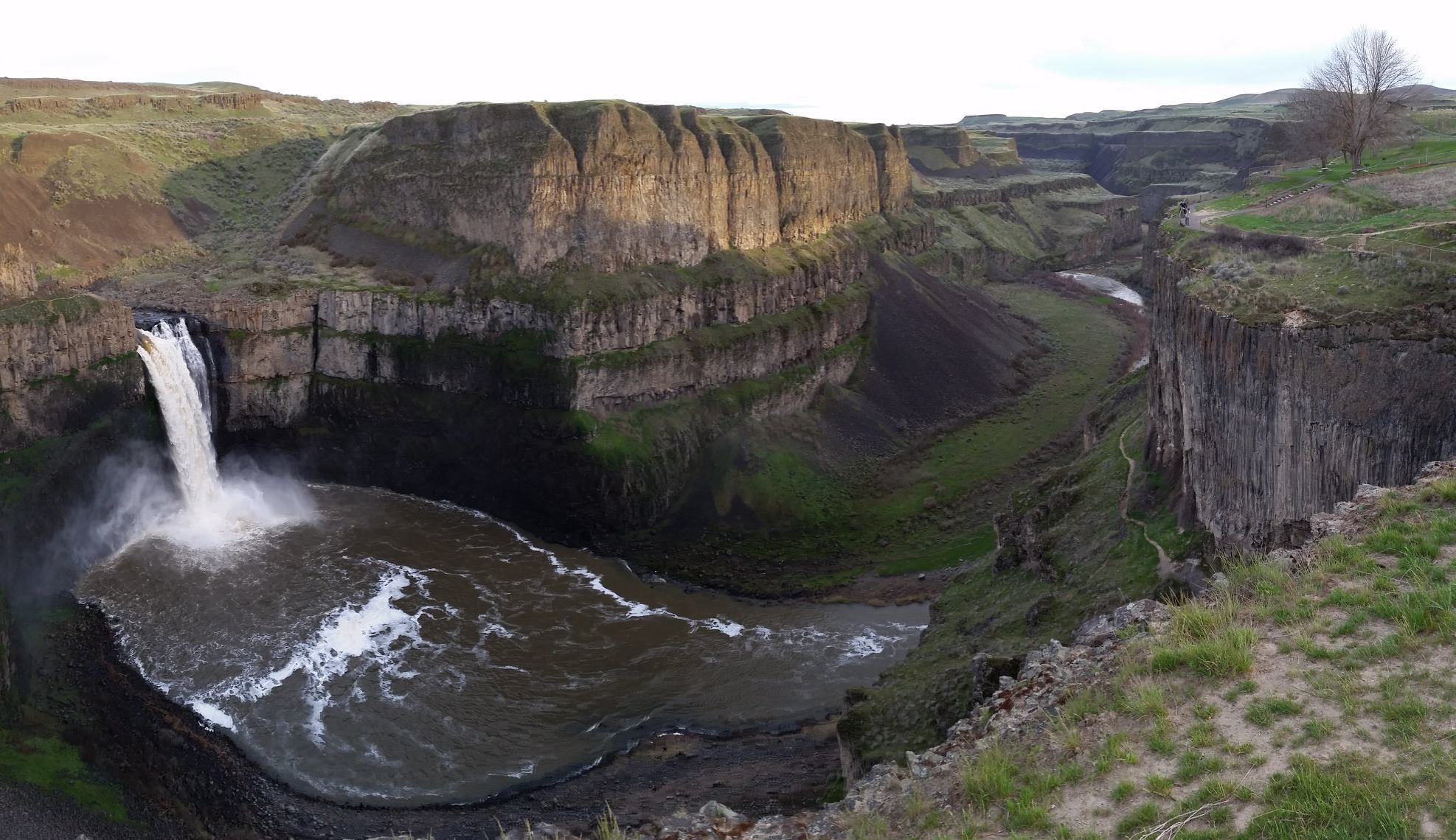 The canyon at Palouse Falls in Washington State