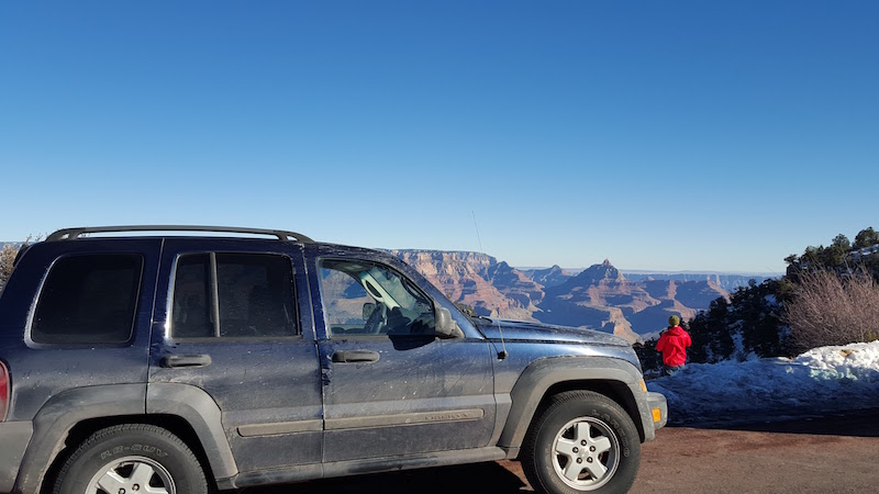 Jeep at Grand Canyon