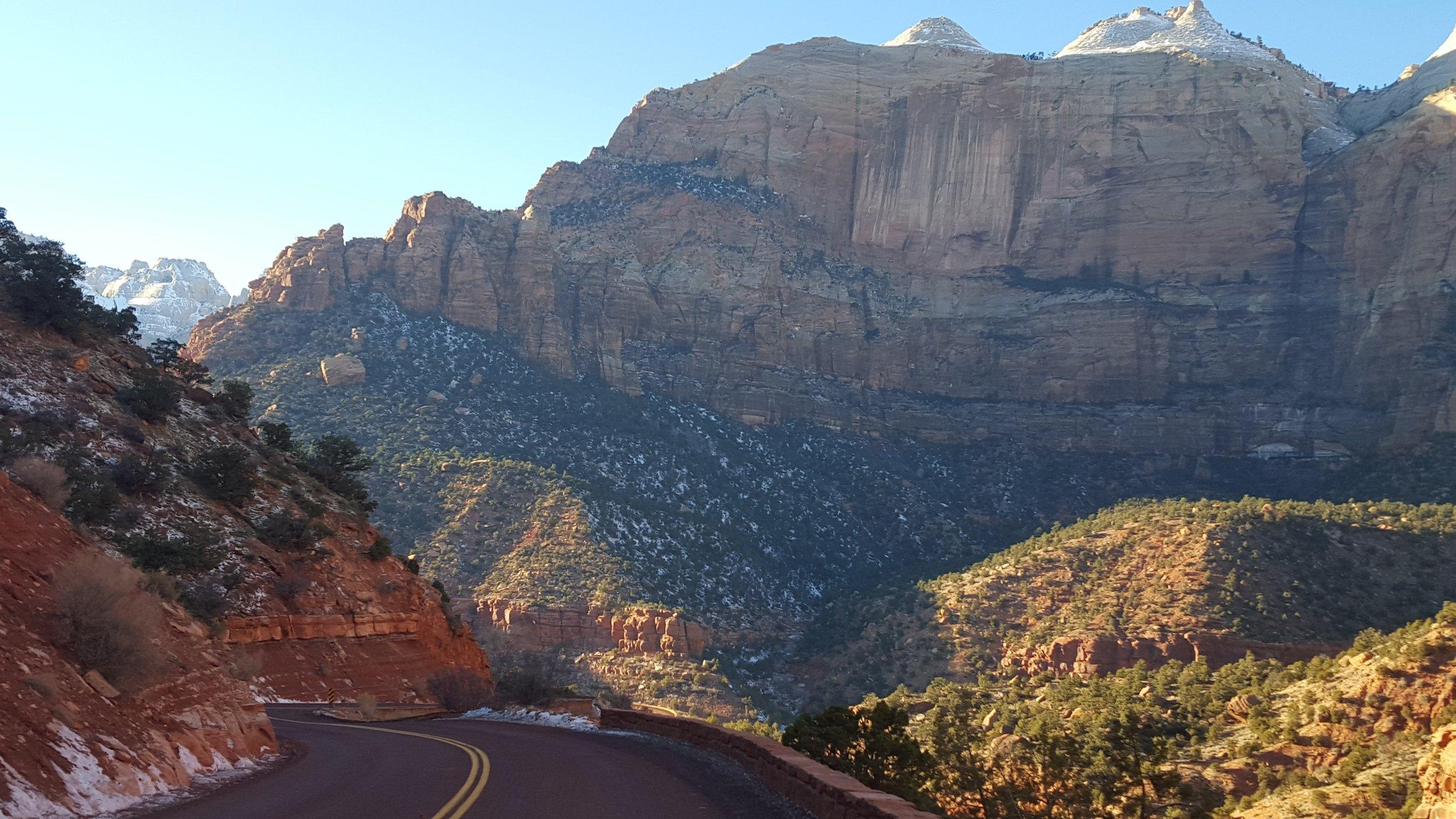 Zion National Park Road - Top Five National Parks